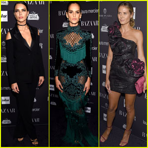 Adriana Lima, Izabel Goulart & Heidi Klum Get Chic at Harper's Bazaar Icons Party
