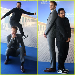 Alexander Skarsgard & Michael Pena Get Silly at 'War on Everyone' Deauville Photo Call