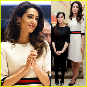 Amal Clooney Introduces ISIS Human Trafficking Survivor at UN Panel