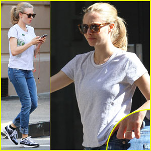Amanda Seyfried Shows Off Engagement Ring in NYC
