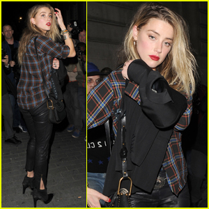 Amber Heard Stops By 'Love Magazine' Party During London Fashion Week