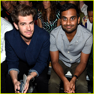 Andrew Garfield Hangs with Aziz Ansari at Opening Ceremony NYFW Show