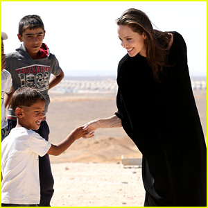 Angelina Jolie Meets Children at Syrian Refugees Camp