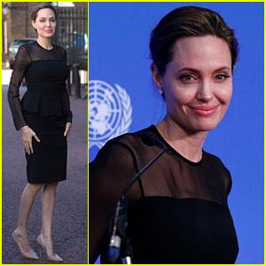 Angelina Jolie Speaks at UN Peacekeeping Defense Ministerial in London