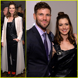Anne Hathaway Switches It Up for 'Colossal' TIFF Party with Austin Stowell!