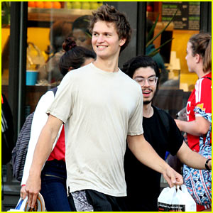 Ansel Elgort is in the Studio Recording New Songs He Wrote!