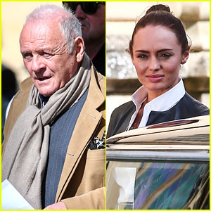 Anthony Hopkins & Laura Haddock Film New Scenes for 'Transformers 5' in Oxford
