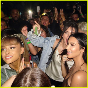 Ariana Grande Joins the Kardashian-Jenner Sisters at Kanye West's Show