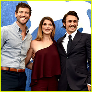 James Franco & Ashley Greene Promote 'In Dubious Battle' in Venice with Austin Stowell!