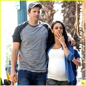 Ashton Kutcher & Pregnant Mila Kunis Make a Cute Couple While Toy Shopping!