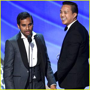 Aziz Ansari Runs Off Stage During Emmys Acceptance Speech