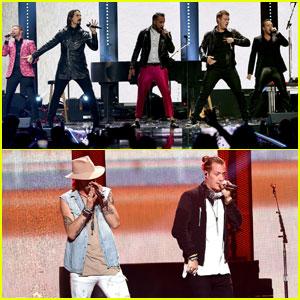 Backstreet Boys & Florida Georgia Line Hit iHeartRadio Music Festival 2016 Stage!