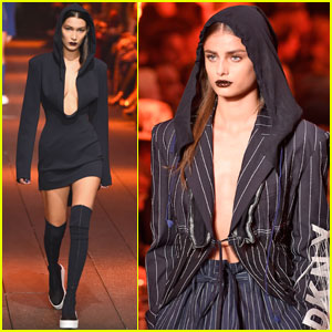 Bella Hadid & Taylor Hill Rock the DKNY Runway During NYFW