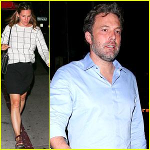 Ben Affleck & Jennifer Garner Grab Dinner Without the Kids
