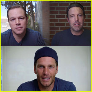 Ben Affleck & Matt Damon Fight for Tom Brady's Friendship in Funny Charity Video!