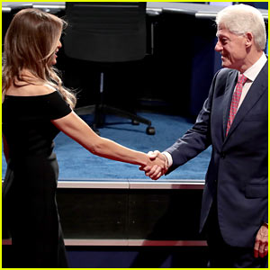 Bill Clinton & Melania Trump Shake Hands at First Presidential Debate