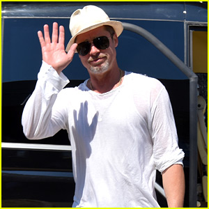 Brad Pitt Boards a Private Plane in Croatia