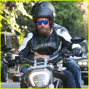 Bradley Cooper Takes His Buddy for a Motorcycle Ride