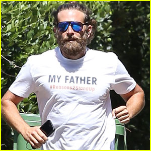 Bradley Cooper Honors His Dad During an Afternoon Run