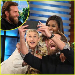 Bradley Cooper Surprises 'Ellen' Audience, Snaps Perfect Selfie with Michelle Obama - Watch Now!