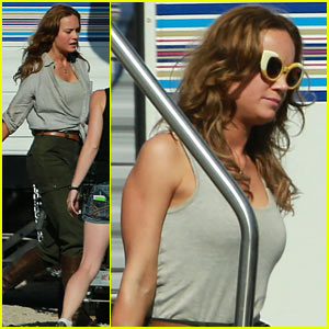 Brie Larson is Ready for Action on the Set of 'Kong: Skull Island'