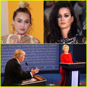 Miley Cyrus & More Celebs React to First Presidential Debate