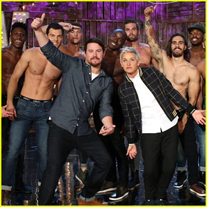 Channing Tatum's 'Magic Mike Live' Dancers Strip Shirtless for 'Ellen' Audience - Watch Now!