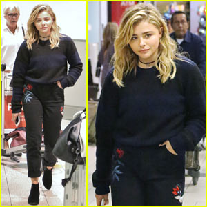Chloe Moretz Arrives at TIFF Ahead of Film Premiere