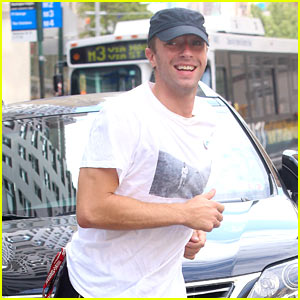 Chris Martin Works Up a Sweat in NYC