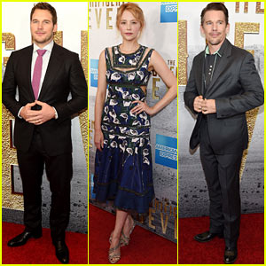 Chris Pratt & Ethan Hawke Premiere 'The Magnificent Seven' in NYC