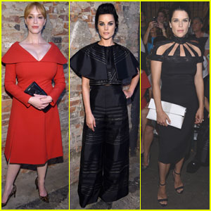 Christina Hendricks & Jaimie Alexander Sit Front Row at Christian Siriano's Inclusive Fashion Show
