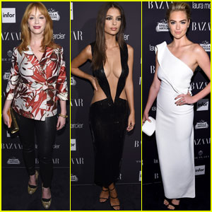 Christina Hendricks, Emily Ratajkowski & Kate Upton Stop By Harper's Bazaar Icons Party