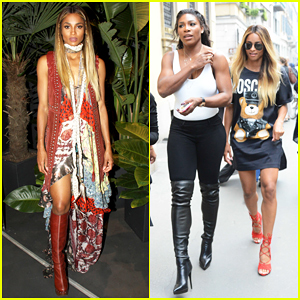 Ciara & Serena Williams Have A Surprise Meet Up In Milan!