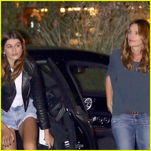 Cindy Crawford & Kaia Gerber Step Out For a Family Dinner