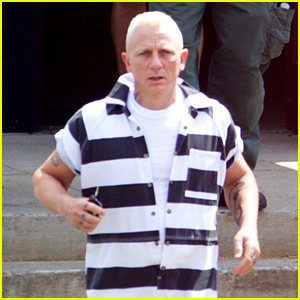 Daniel Craig Goes Blond in Striped Jumpsuit for 'Logan Lucky'