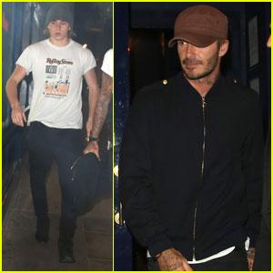 David & Brooklyn Beckham Hit Up a Concert Together