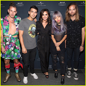 DNCE & Demi Lovato Team Up For 'Toothbrush' at Marriott Rewards Concert - Watch The Vid!