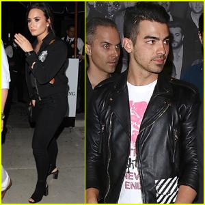 Demi Lovato Hits Up a Birthday Party With Joe Jonas