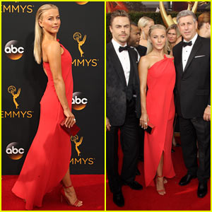 Derek & Julianne Hough Bring Dad Bruce to 2016 Emmy Awards