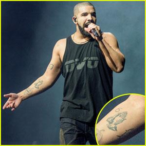 Drake Shows Off His Matching Shark Tattoo With Rihanna!