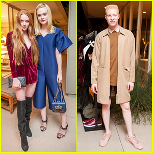 Elle Fanning Joins Shaun Ross at ASOS' Holiday Preview Dinner