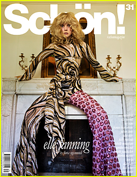 Elle Fanning Channels the 70s On Schon Mag's Newest Cover