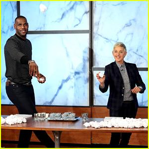 Ellen DeGeneres Challenges LeBron James to Wastebasket Competition (Video)