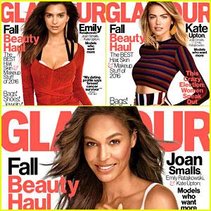 Emily Ratajkowski, Joan Smalls, & Kate Upton Cover 'Glamour' October 2016