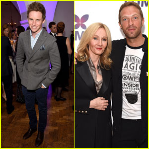 Eddie Redmayne & Chris Martin Support J.K. Rowling's Charity