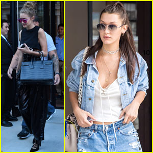 Gigi & Bella Hadid Enjoy Family Time in NYC!