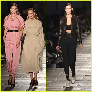 Gigi Hadid Shares Runway Walk with Lauren Hutton in Bottega Veneta Show in Milan