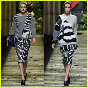 Gigi & Bella Hadid Walk in Max Mara & Fendi Milan Shows