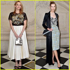 Haley Bennett & Karlie Kloss Go Glam for Dior's Paris Fashion Show!