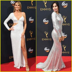 Heidi Klum & Padma Lakshmi Go Glam for Emmy Awards 2016
